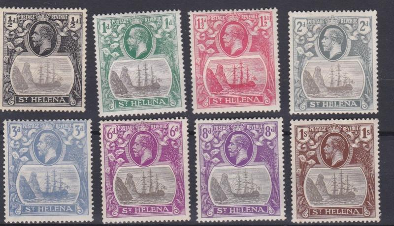 ST HELENA  1922   S G  97 - 106  VARIOUS VALUES  TO 1/-    MH