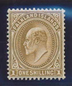 Falkland Islands Stamp Scott #27, Mint Lightly Hinged - Free U.S. Shipping, F...