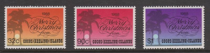 Cocos Keeling Islands Sc#200-202 MNH