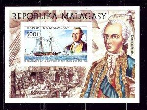 Malagasy C140 1975 American Bicentennial Imperf Souvenir Sheet