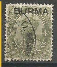 BURMA, 1937, used 4a, Overprinted, Scott 9