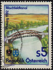 Austria - 1992 - Scott #1580 - used - Marchfeld Canal