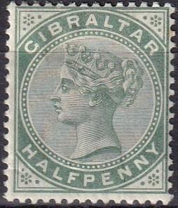 Gibraltar #8  F-VF Unused  CV $18.50  Z836