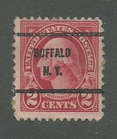 1923 USA Buffalo, NY  Precancel on Scott Catalog Number 554