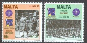 Malta Sc# 1286-1287 MNH 2007 Europa