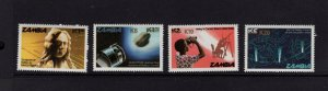 Zambia #404/409/413/417  (1987 Halley's Comet surcharge set) VFMNH CV $24.65