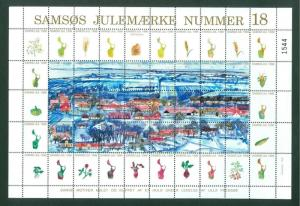 Denmark. Christmas Sheet Local Samso  # 18. 1996. Town: Toftebjerg. Vegetables
