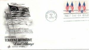 US FDC #1519 Flags Line Pair, ArtCraft (1753)