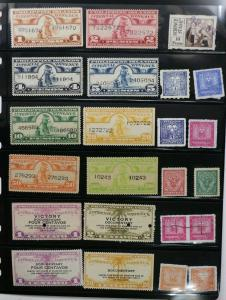 Philippines IR Revenue Documentary used lot 23 surcharged Victory 5000p  DL