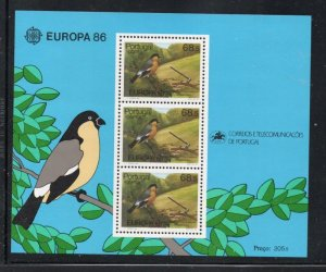 Portugal  Azores Sc 356a 1986  Europa stamp sheet mint NH