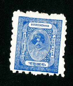 India Barwani Stamps # 2 VF No Gum as Issued Scott Value $500.00