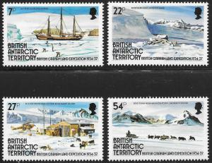 British Antarctic Territories BAT Scott 121-124 VF NH