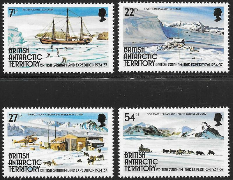 British Antarctic Territories BAT Scott 121-124 VF NH
