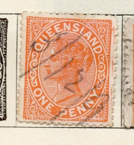 Queensland 1882-95 Early Issue Fine Used 1d. NW-113692