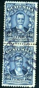 Guatemala - SC #224 - USED PAIR - 1926 - Item G159