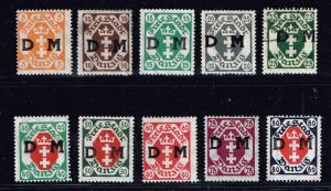 GERMANY STAMP DANZIG D. M. OVPT OFFICIAL STAMPS COLLECTION LOT  #3