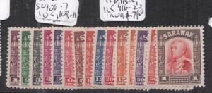 Sarawak SG 106-7, 108, 109-77, 112, 113-4, 115, 116-20 MOG (9dkh)