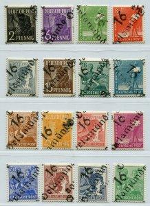 GERMANY SOVIET ZONE HOP BEZIRKSHANDSTEMPEL BEZIRK 37 166-181 VIII PERFECT NH 134