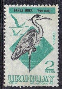 URUGUAY  SC# 752 MNH 1968-70 2p   HERON  SEE SCAN