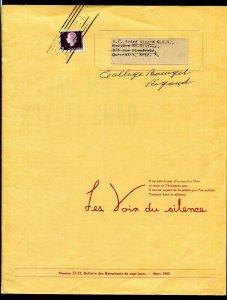 a033 - Canada 1965 Les Voix du Silence Bulletin. 3c Cameo. Quebec Roller Cancel