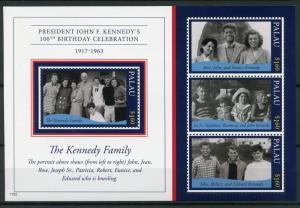 Palau 2017 MNH JFK John F Kennedy 100th Birth Ann 4v M/S I US Presidents Stamps