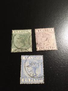 St Lucia sc 27,29, 31 u