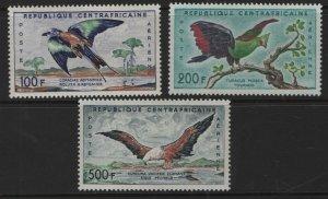 CENTRAL AFRICAN REPUBLIC, (3) SET, C1-C3, MNH, 1960, Bird types