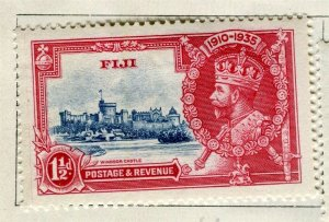 FIJI; 1935 early GV Silver Jubilee issue Mint hinged 1.5d. value