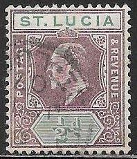 St. Lucia 50 Used - Edward VII