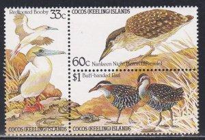 Cocos Islands # 134a, Birds, NH, 1/2 Cat.