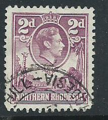 Northern Rhodesia  SG 33 FU short perf