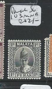 MALAYA PERAK (P2702B) 1C  SG 103   MNH