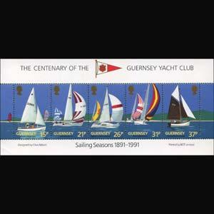 GUERNSEY 1991 - Scott# 463a S/S Yacht CLub NH