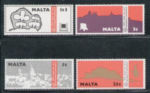MALTA 1975 MNH SC.497/500 Architectural Heritage