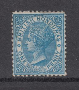 British Honduras Sc 4 MNG. 1872 1p pale blue Queen Victoria, perf 12½ almost VF