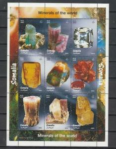 Somalia, 1999 Cinderella issue. Minerals sheet of 9.