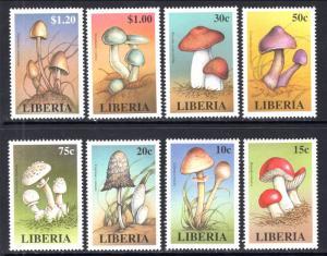 Liberia 1332-1339 Mushrooms MNH VF
