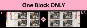 US 1701 Christmas Nativity 13c mail early block MNH 1976