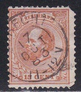 Netherlands #  27, King William III, Used, faults, 10%