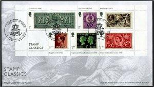 HERRICKSTAMP GREAT BRITAIN Sc.# 3802 Stamp Classics S/S FDC London
