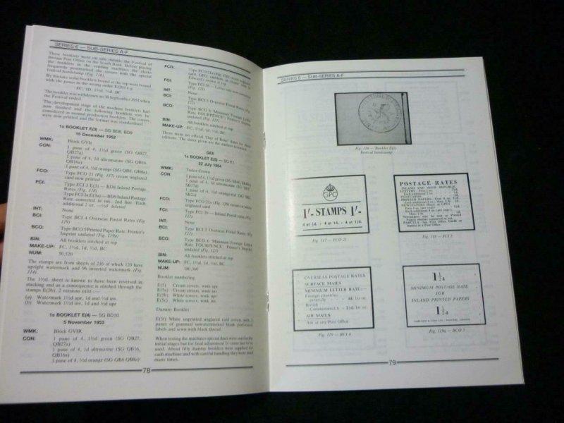 BRITISH STAMP BOOKLETS PART 4 SERIES 6 by ALEXANDER & NEWBERY