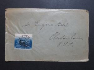 Hungary 1936 Cover to USA / Single Franking - Z8645