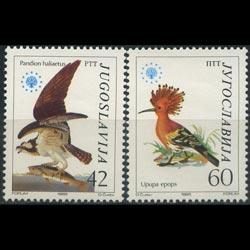 YUGOSLAVIA 1985 - Scott# 1728-9 Nature Set of 2 NH