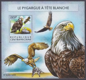 2015 Central African Republic 5589/B1339 Birds of prey 12,00 €