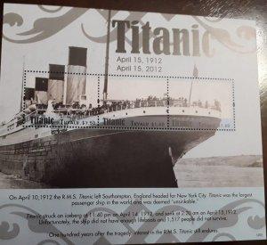 U) 2012, TUVALU, 100 ANNIVERSARY OF THE TITANIC,  MULTIPLE STAMPS, PERFORATED