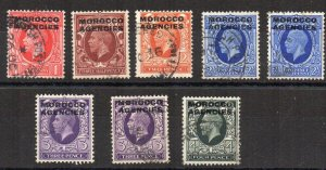 Morocco Agencies 1935-37 GB opt values  to 4d FU CDS