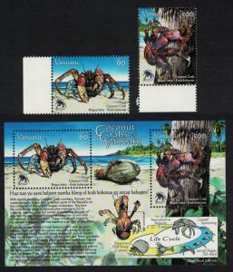 Vanuatu Coconut Crabs 2v+MS SG#1023-MS1025