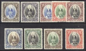 MALAYA / KEDAH #46-54 Mint - 1937 Sultan Set