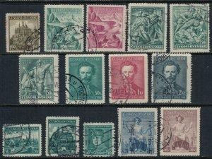 Czechoslovakia #240-50,2-4  CV $3.65