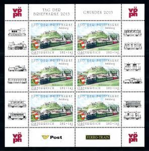 [76682] Austria 2013 Railway Train Eisenbahn Sheet MNH